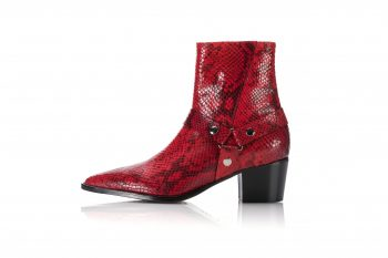Leather Ankle Boots  – Hot Pepper