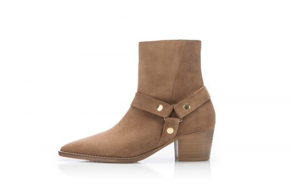 Suede Ankle Boots – Safari